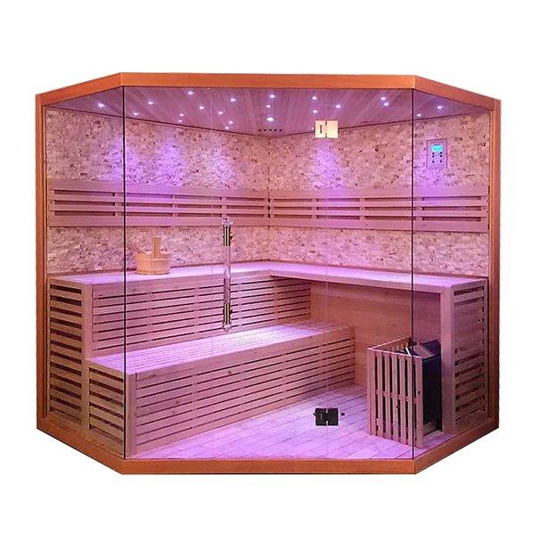 Sauna Finlandese 4 posti Vetro